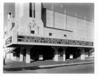 Fox Theatre, Bakersfield, facade