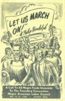 Let Us March On! -- A. Philip Randolph [flier by Melvin Tapley]