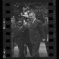 President Lyndon B. Johnson and Upper Voltian President Maurice Yaméogo, 1965 [11A]