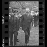 President Lyndon B. Johnson and Upper Voltian President Maurice Yaméogo, 1965 [18A]