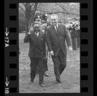 President Lyndon B. Johnson and Upper Voltian President Maurice Yaméogo, 1965 [17A]