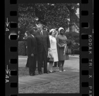 President Lyndon B. Johnson and Upper Voltian President Maurice Yaméogo and their wives, 1965 [4]