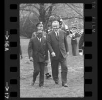 President Lyndon B. Johnson and Upper Voltian President Maurice Yaméogo, 1965 [16A]