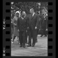 President Lyndon B. Johnson and Upper Voltian President Maurice Yaméogo, 1965 [7A]