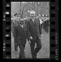 President Lyndon B. Johnson and Upper Voltian President Maurice Yaméogo, 1965 [6]
