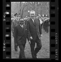 President Lyndon B. Johnson and Upper Voltian President Maurice Yaméogo, 1965 [6]