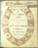 MS 170/107 : Sete derasiot / Saul Levi Morteira