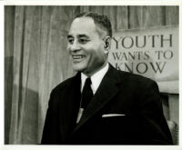 Ralph J. Bunche, 3/4 turn portrait, 1958
