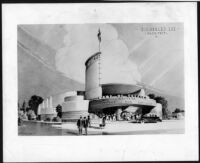 Academy Theatre, Inglewood, photograph of rendering