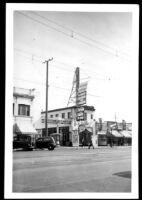 Alex Theatre, street elevation before remodel