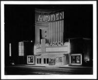 Arden Theatre, Lynwood, street elevation, night