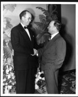Bay Theatre, Pacific Palisades, S. Charles Lee (right) on opening night