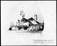 Big Bear Theatre, Big Bear, photograph of rendering