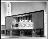 Chino Theatre, exterior, day
