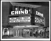 Chino Theatre, exterior on opening night