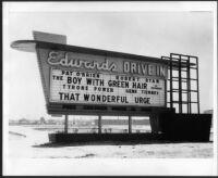 Drive-in theatre, Arcadia, sign