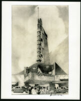 Egyptian Theatre, photograph of rendering