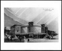 Disney Theatre, photograph of rendering