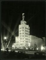 Fox Wilshire, Beverly Hills, exterior at night