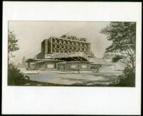 Garmar Theatre, Montebello, photograph of rendering