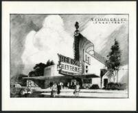 Helix Theatre, La Mesa, photograph of rendering