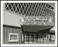 Helix Theatre, La Mesa, entry doors and marquee