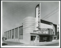 Hopkins Theatre, Oakland, façade