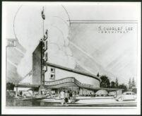 La Tijera Theatre, Los Angeles, photograph of rendering