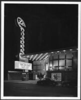 La Tijera Theatre, Los Angeles, exterior, night