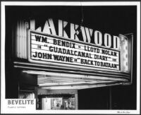 Lakewood Theatre, Lakewood, marquee