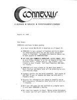 Letter to Women Announcing the Progress of Planning Connexxus