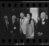President Johnson and Lynda Bird at dinner