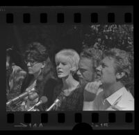 UCLA students at press conference regarding police brutality, 1967.