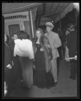 "Ronald Reagan and Jane Wyman at the premier of ""Tales of Manhattan"" at Grauman's Chinese Theater, 1942."