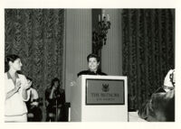 Founding Celebration II: Helen Reddy at podium