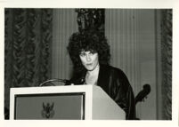 Founding Celebration II: Woman at podium