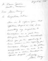 Letter of Resignation by Connexxus' Bilingual Coordinator Consultant, Gloria Nievez