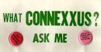 """""""What Connexxus?"""" Bumper Sticker and Pins"""