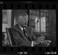 Lew Wasserman being interviewed by Arelo Sederberg. C. 1969.