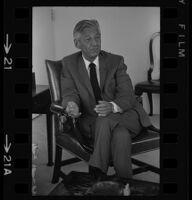 Lew Wasserman being interviewed by Arelo Sederberg. J. 1969.