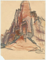 Zion [View of a rock structure in Zion National Park.]