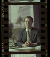 David Laventhol soon after his appointment as publisher of the Los Angeles Times, Los Angeles, 1989
