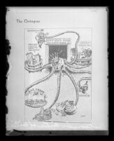 """Cartoon from """"Critic of critics"""" depicting Guy McAfee as an octopus, 1931"""