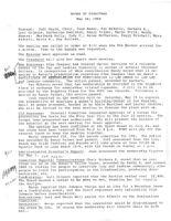 Board of Directors Meeting Minutes - May 24, 1984