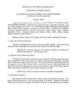 Board of Directors Meeting Minutes - June 20, 1993