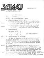 Administrative Director's Report - September 22, 1983