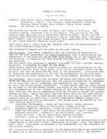 Board of Directors Meeting Minutes - August 23, 1984