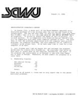Administrative Director's Report - August 23, 1984