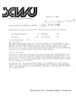 Administrative Director's Report - January 3, 1985