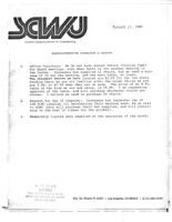 Administrative Director's Report - January 27, 1985